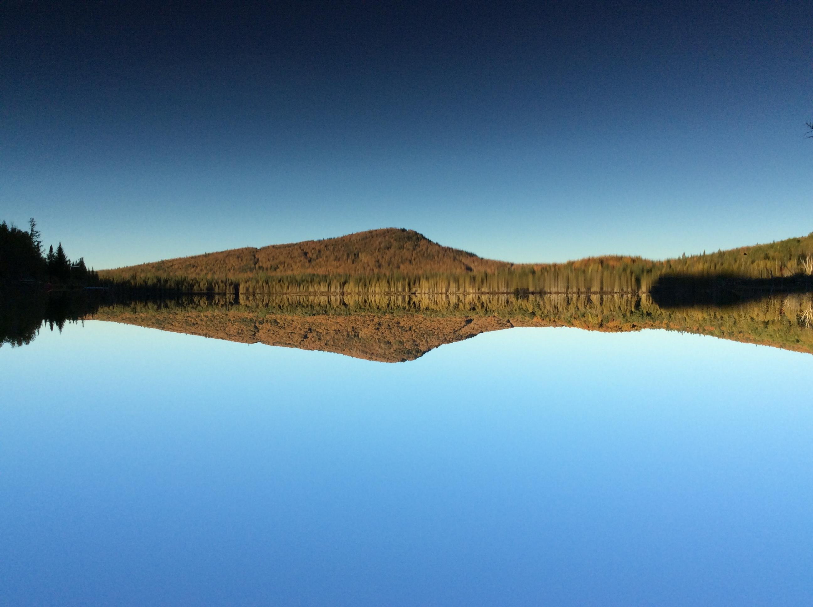 miroir sur le lac